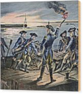 Battle Of Long Island, 1776 Wood Print