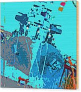 Battleship North Carolina Wood Print