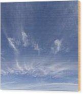 Big Blue Sky Wood Print
