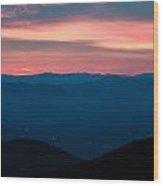 Blue Ridge Parkway Scenic Mountains Overlook Wood Print