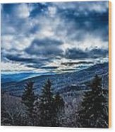 Blue Ridge Parkway Winter Scenes In February Wood Print
