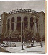Busch Stadium - St. Louis Cardinals Wood Print