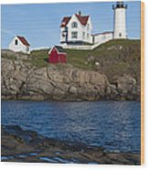 Cape Neddick Lighthouse Wood Print