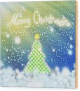 Chess Style Christmas Tree Wood Print