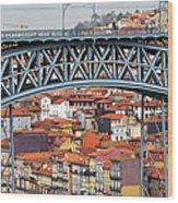 City Of Porto In Portugal Wood Print