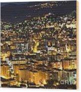 Cityscape At Night Wood Print