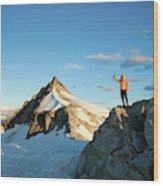 Climbing Cypress Peak Wood Print