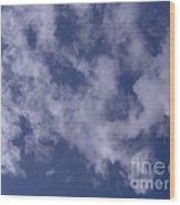 Clouds In The Sky Wood Print