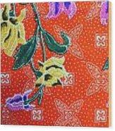 Colorful Batik Cloth Fabric Background  Wood Print