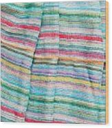 Colorful Cloth Wood Print by Tom Gowanlock