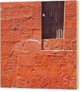 Colorful Old Architecture Details Wood Print