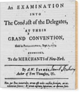 Continental Congress, 1774 Wood Print