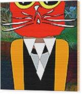 Cool Cat Wood Print