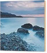 Blue Crete. Wood Print