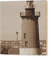 Delaware Breakwater Lighthouse Wood Print
