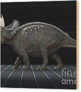 Dinosaur Diceratops Wood Print
