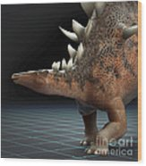 Dinosaur Kentrosaurus Wood Print