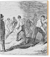 Execution Of Conspirators Wood Print