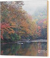 Fall Color Williams River Wood Print