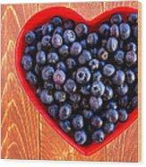 Fresh Picked Organic Blueberries Wood Print