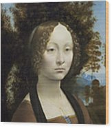 Ginevra De Benci Wood Print