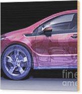 Hybrid Car Wood Print