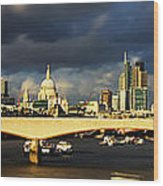 London  Skyline Waterloo  Bridge Wood Print
