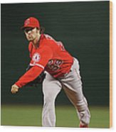 Los Angeles Angels Of Anaheim V Arizona Wood Print