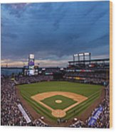 Los Angeles Dodgers V Colorado Rockies Wood Print
