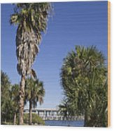 Melbourne Causeway To Indialantic In Central Florida From Geiger Wood Print