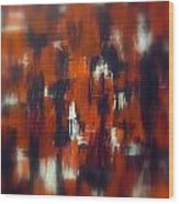 Modern Abstract Painting Original Canvas Art Shadow People By Zee Clark Wood Print