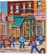 Montreal Paintings Wood Print