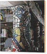 Mosaic Pillar Wood Print