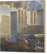 Neurath Power Station Germany Wood Print