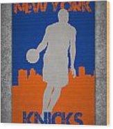 New York Knicks Wood Print