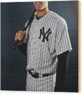New York Yankees Photo Day Wood Print