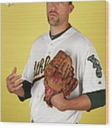 Oakland Athletics Photo Day Wood Print