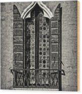 Old World Window Wood Print