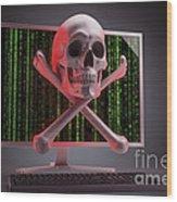 Online Security Wood Print