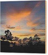 Outer Banks North Carolina Sunset Wood Print