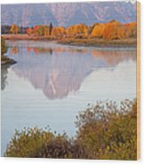 Oxbow Bend Grand Teton National Park Wood Print