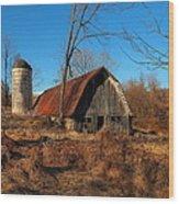 Paeonian Springs Barn Wood Print