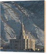 Payson Utah Temple In January 2014 Wood Print