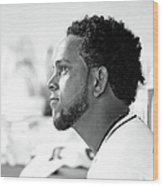 Philadelphia Phillies V Miami Marlins 6 Wood Print