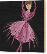 6 Pink Ballerina Wood Print