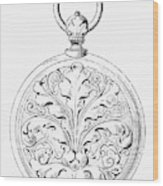 Pocket Watch, 19th Century Wood Print