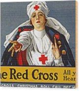 Red Cross Poster, 1917 Wood Print
