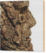Revered   A Natural Portrait Bust Sculpture By Adam Long Wood Print