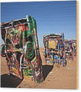 Route 66 - Cadillac Ranch Wood Print