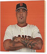San Francisco Giants Photo Day Wood Print